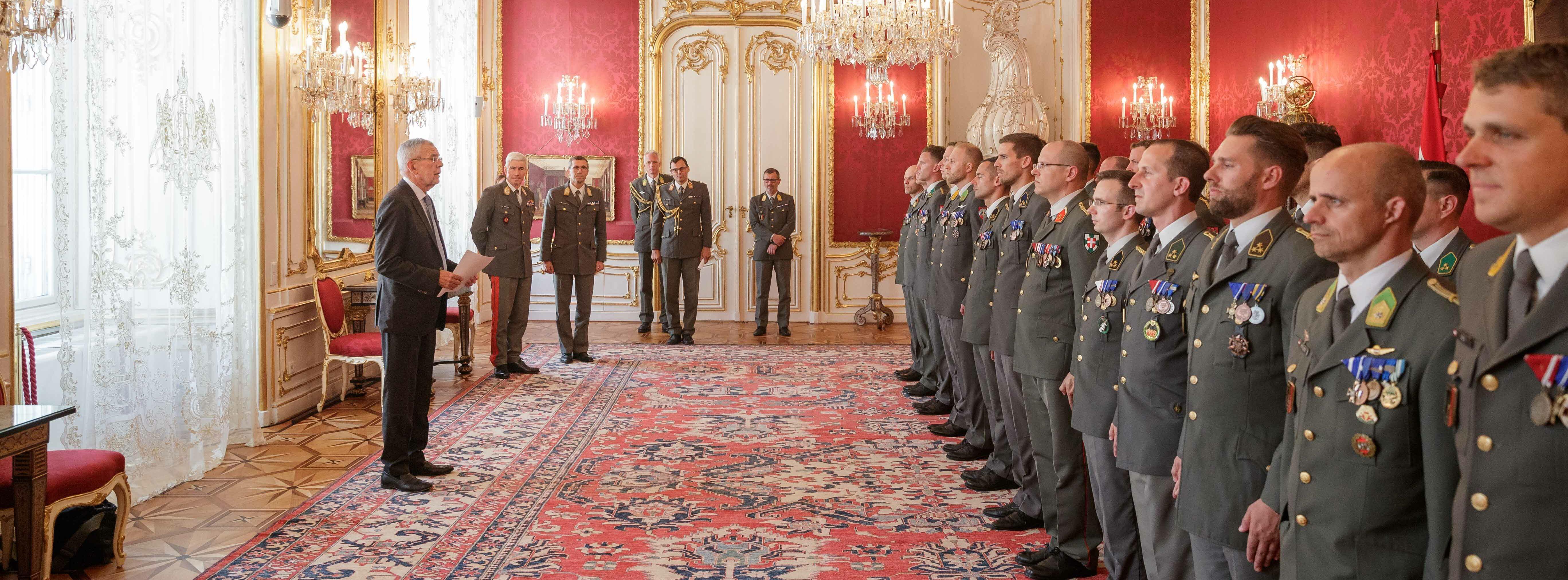 Ausmusterung 21. Generalstabslehrgang